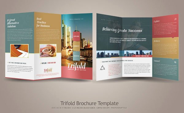 11x17 Tri Fold Brochure Template Awesome 20 Simple yet Beautiful Brochure Design Inspiration