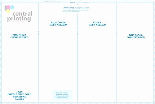 11x17 Tri Fold Brochure Template Awesome Brochure Templates