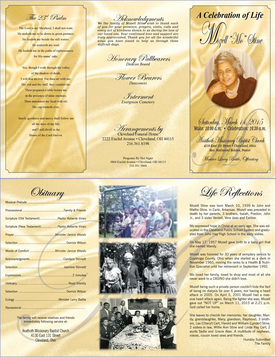 11x17 Tri Fold Brochure Template Awesome Tri Fold Funeral Program Template 11x17 Full Bleed