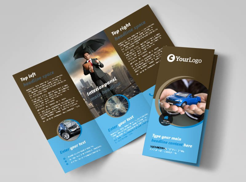 11x17 Tri Fold Brochure Template Best Of Reliable Auto Insurance Brochure Template