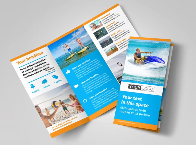 11x17 Tri Fold Brochure Template Best Of Water Sport Rentals Brochure Template