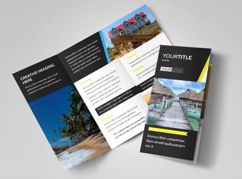11x17 Tri Fold Brochure Template Elegant Tropical Villa Rentals Brochure Template