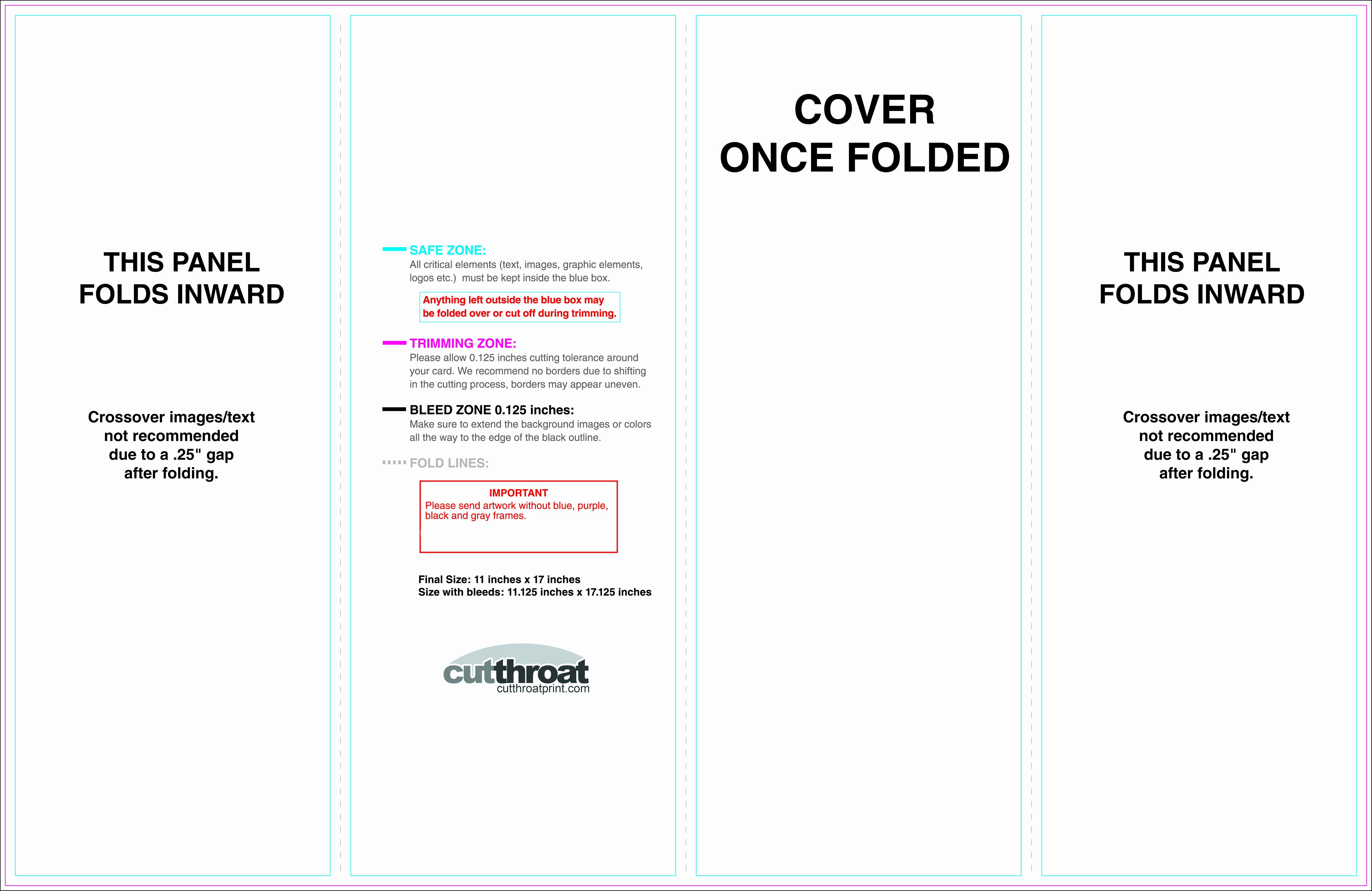 11x17 Tri Fold Brochure Template Fresh Cutthroat Printcustom Brochure Printing