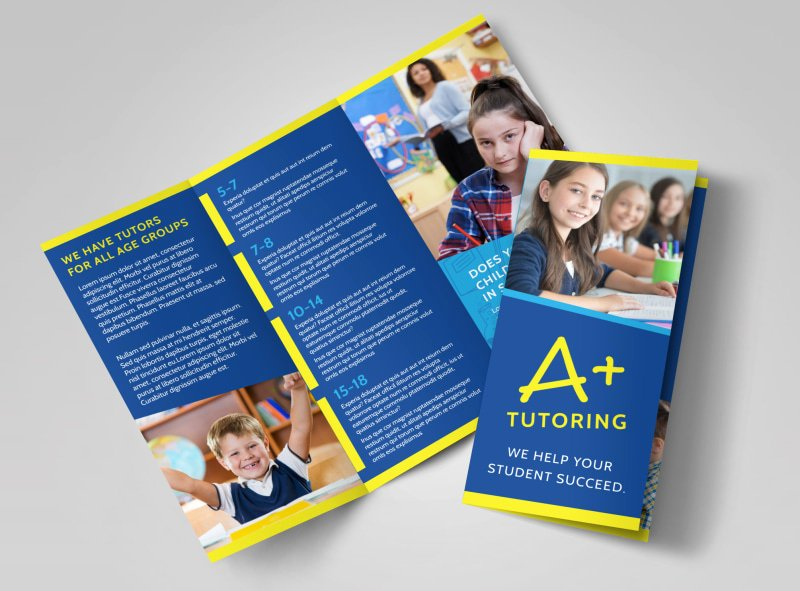11x17 Tri Fold Brochure Template Lovely Education & Training Brochure Templates