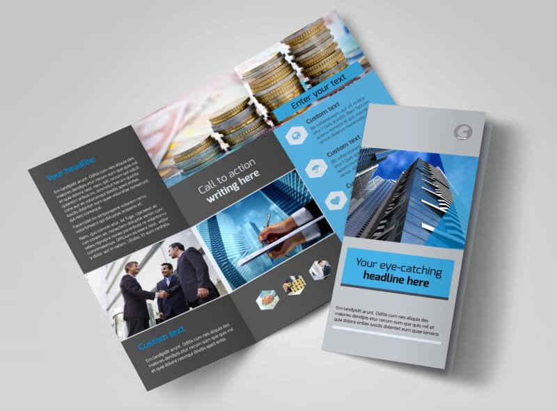 11x17 Tri Fold Brochure Template Luxury Business Banking Brochure Template