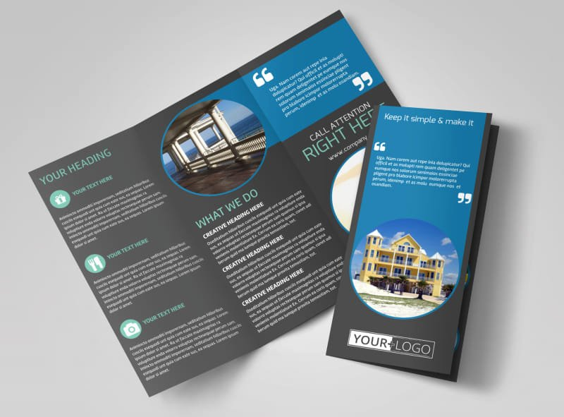 11x17 Tri Fold Brochure Template Luxury Vacation Rentals Brochure Template