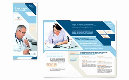 11x17 Tri Fold Brochure Template New Medical Transcription Brochure Template Design