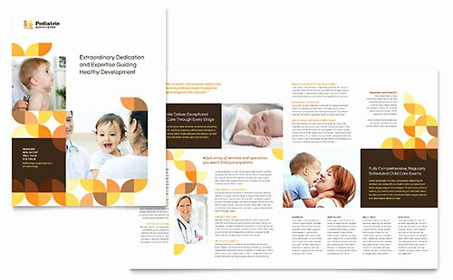 11x17 Tri Fold Brochure Template New Pediatrician & Child Care Brochure Template Word & Publisher