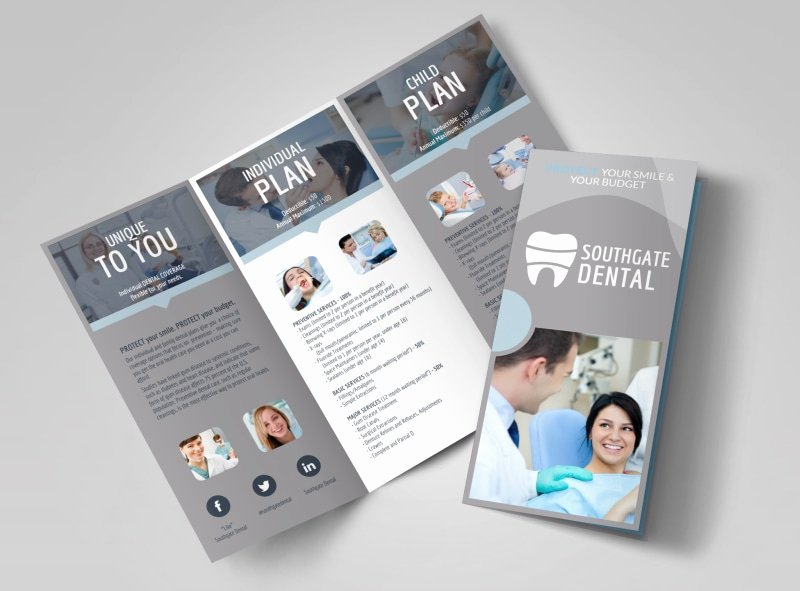 11x17 Tri Fold Brochure Template Unique Dental Brochure Templates