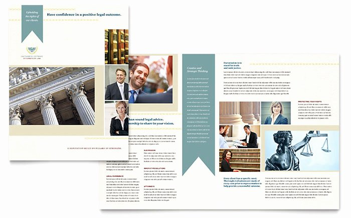 11x17 Trifold Brochure Template Beautiful Law Firm Brochure Template Design