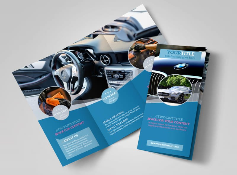 11x17 Trifold Brochure Template Elegant Auto Detailing Brochure Template