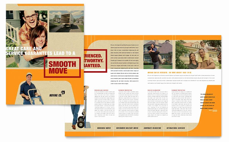 11x17 Trifold Brochure Template Fresh Movers & Moving Pany Brochure Template Word & Publisher