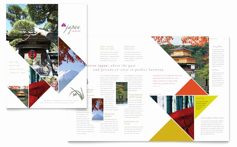 11x17 Trifold Brochure Template Inspirational Japan Travel Brochure Template Word & Publisher