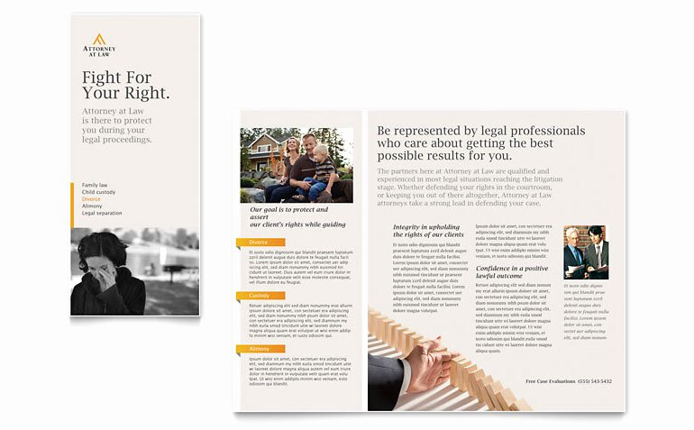 11x17 Trifold Brochure Template New Legal Advocacy Tri Fold Brochure Template Word & Publisher