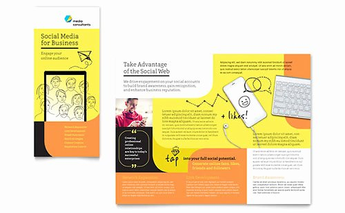 11x17 Trifold Brochure Template New social Media Consultant Brochure Template Design