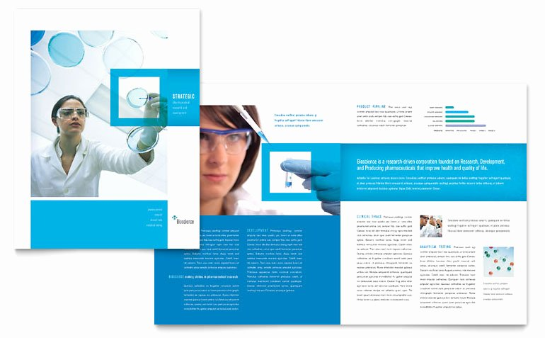 11x17 Trifold Brochure Template Unique Science & Chemistry Brochure Template Word & Publisher