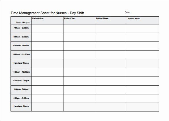 12 Hour Nursing Schedule Template Best Of Nursing Schedule Template