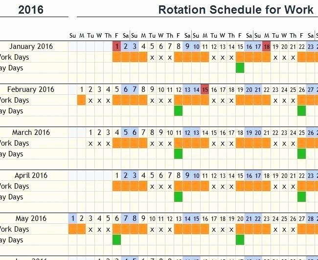 hour shift schedule template free 12 rotating work examples 7