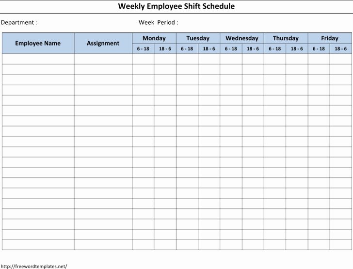 12 Hour Shift Schedule Template Elegant 6 12 Hour Shift Schedule Template Free Download
