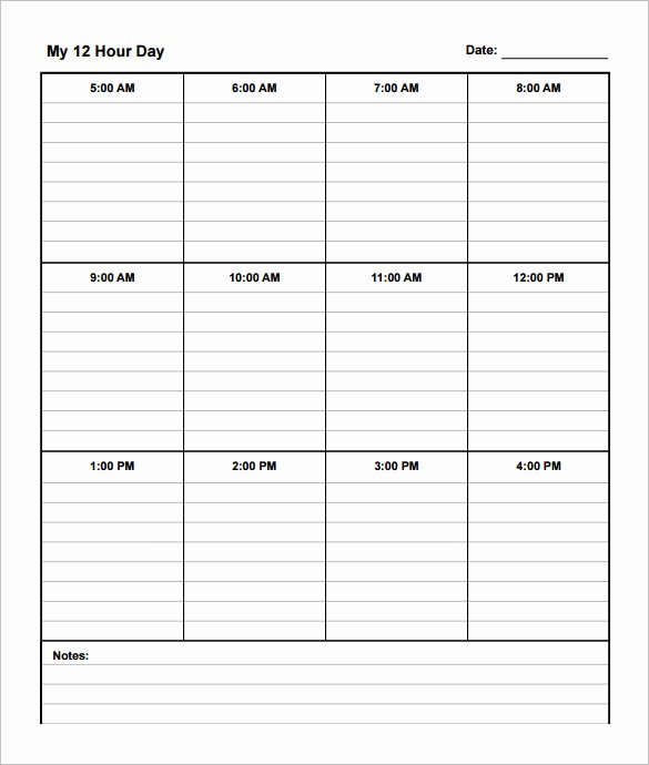 12 Hour Shift Schedule Template New 12 Hour Shift Schedule Template 10 Free Word Excel