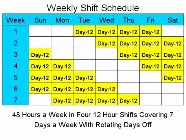 12 Hour Shift Schedule Template New Download Hour Shift Schedule Template Excel Famous S