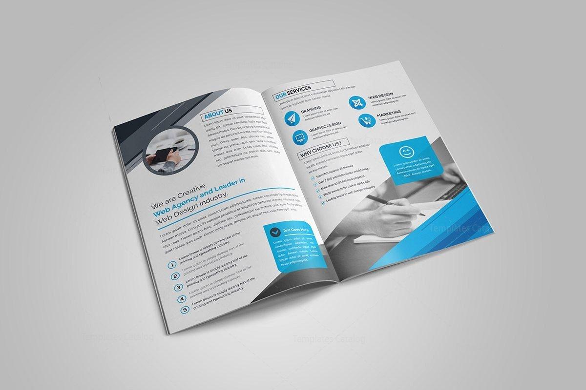 2 Fold Brochure Template Awesome Ruby Bi Fold Brochure Template Template Catalog