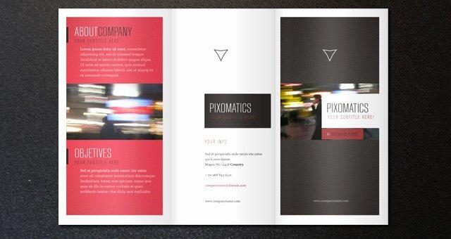 2 Fold Brochure Template Beautiful Corporate Tri Fold Brochure Template 2
