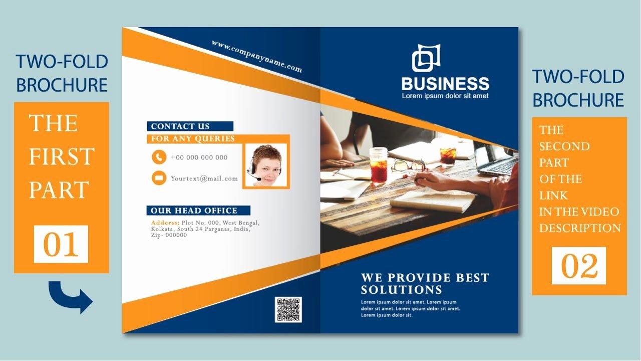 2 Fold Brochure Template Beautiful Illustrator Tutorial Two Fold Business Brochure Template