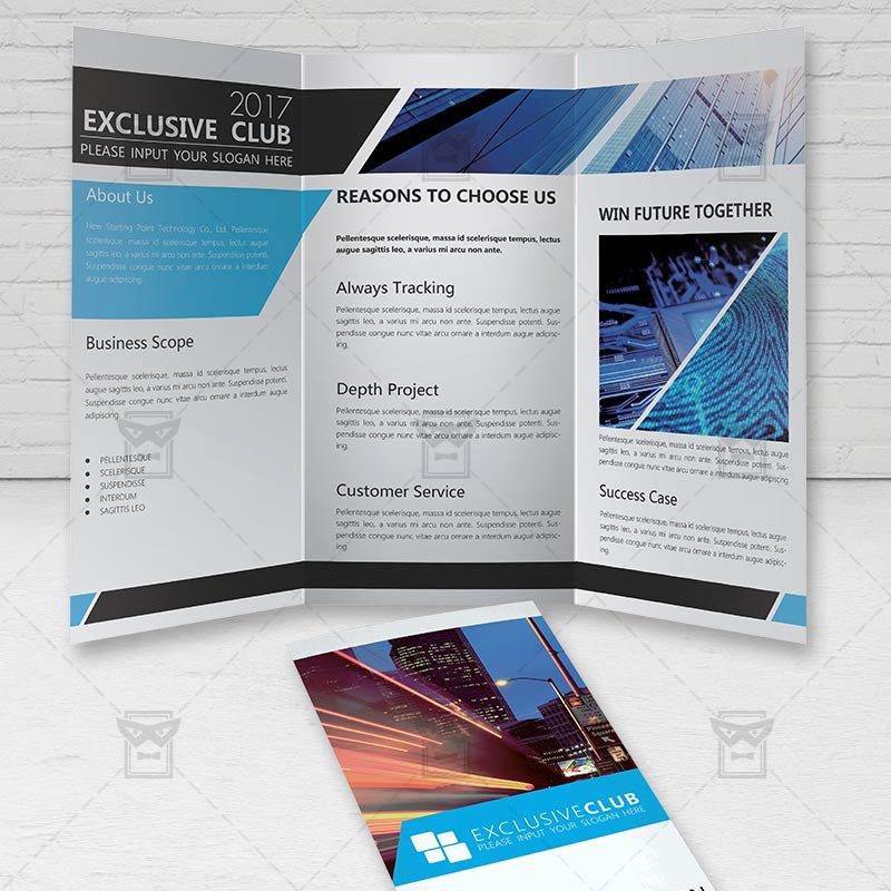 corporate brochure free tri fold brochure psd template