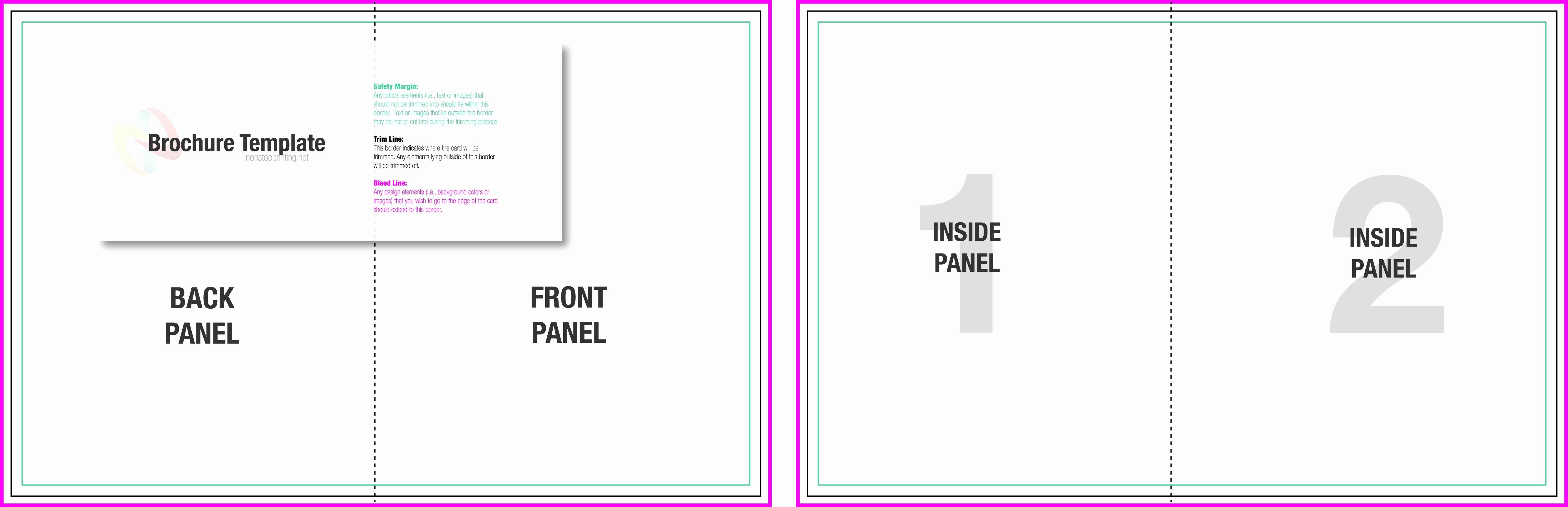 2 Fold Brochure Template Elegant 10 Best Of Two Fold Brochure Template Half Fold