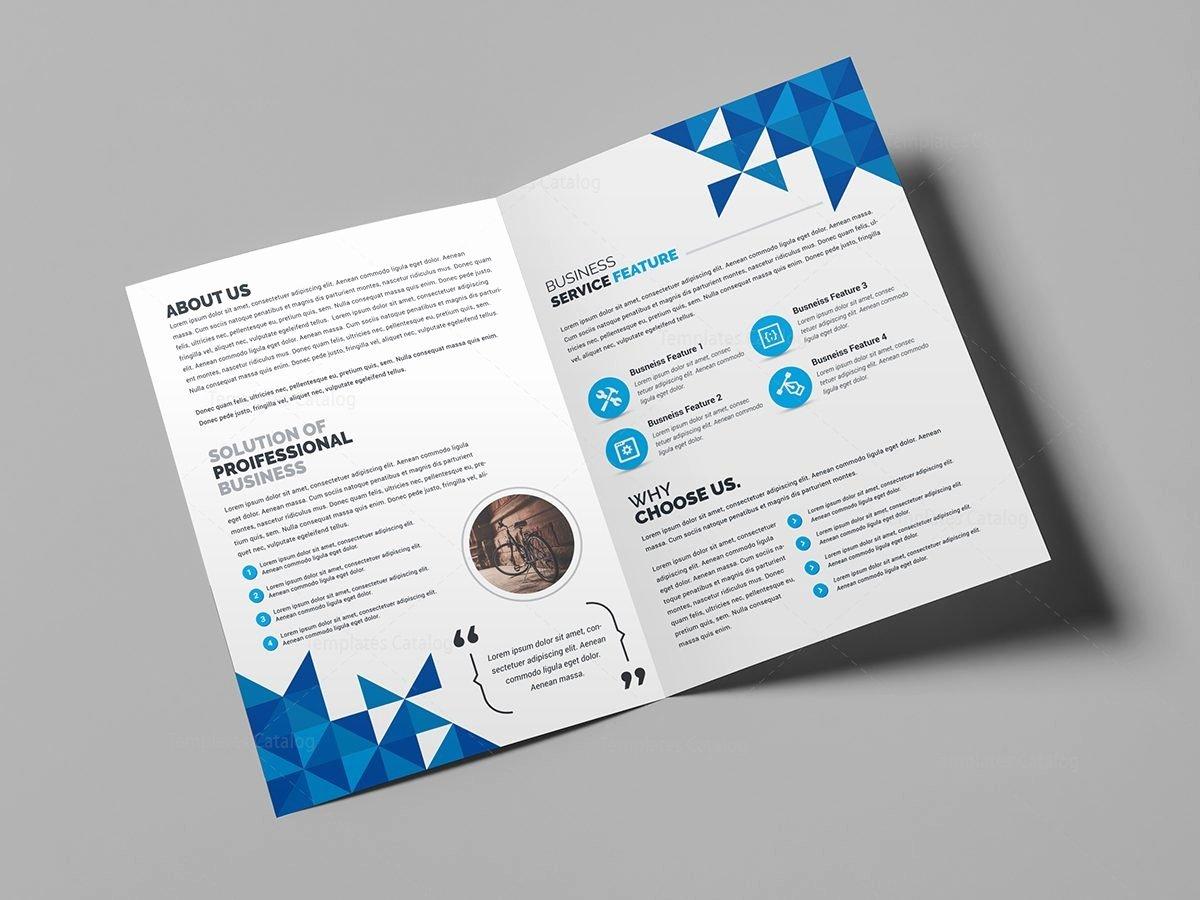 2 Fold Brochure Template Elegant Angel Creative Bi Fold Brochure Template Template