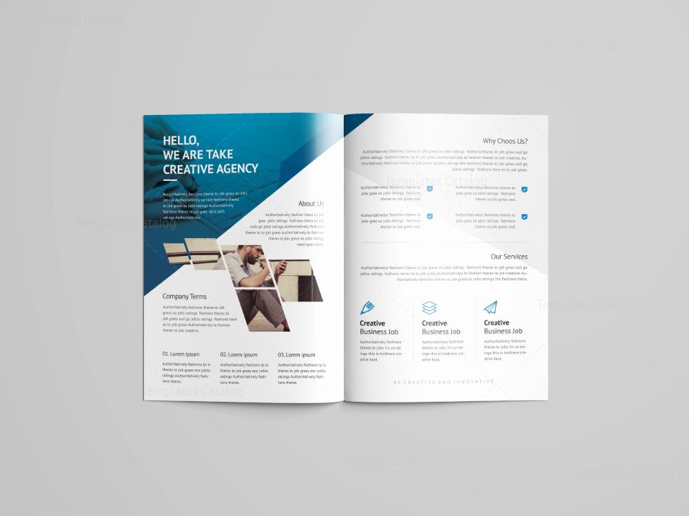 2 Fold Brochure Template Elegant Cerberus Professional Bi Fold Brochure Template