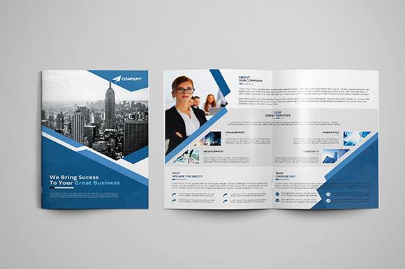 2 Fold Brochure Template Elegant Corporate Bi Fold Brochure Brochure Templates On