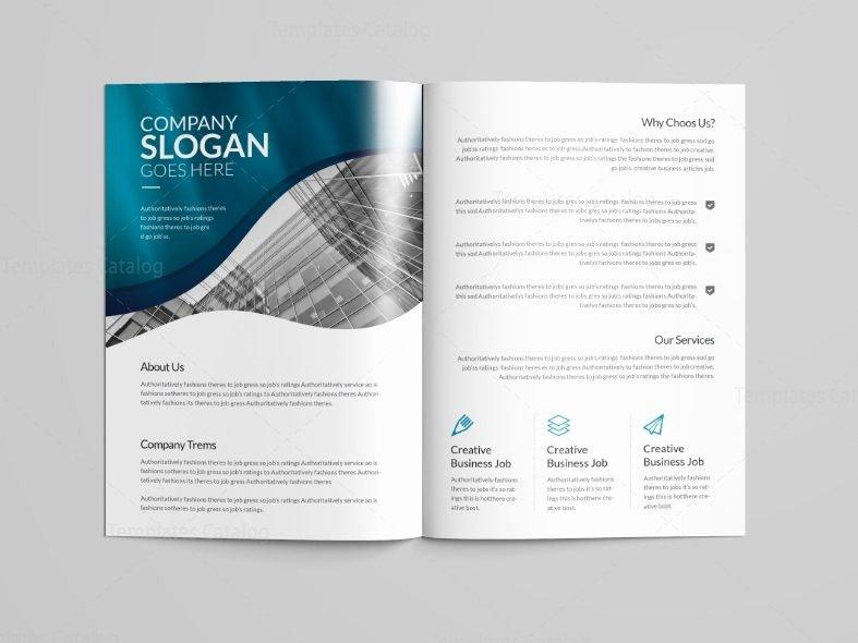 2 Fold Brochure Template Fresh Halley Professional Bi Fold Brochure Template