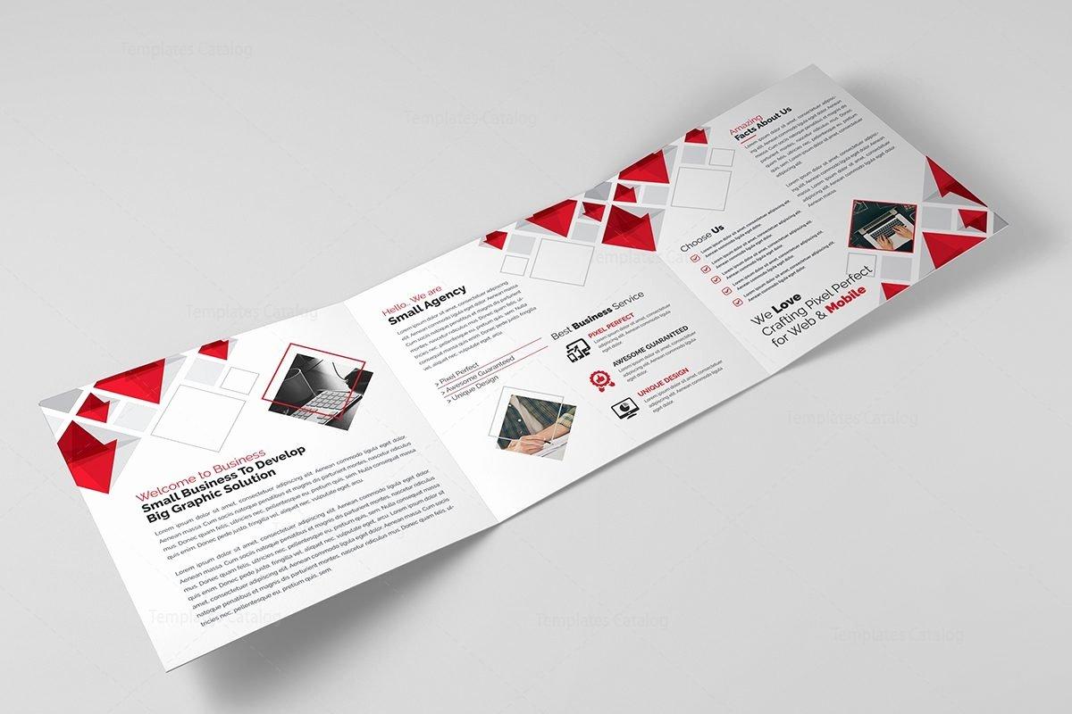 2 Fold Brochure Template Lovely Eclipse Modern Tri Fold Brochure Template