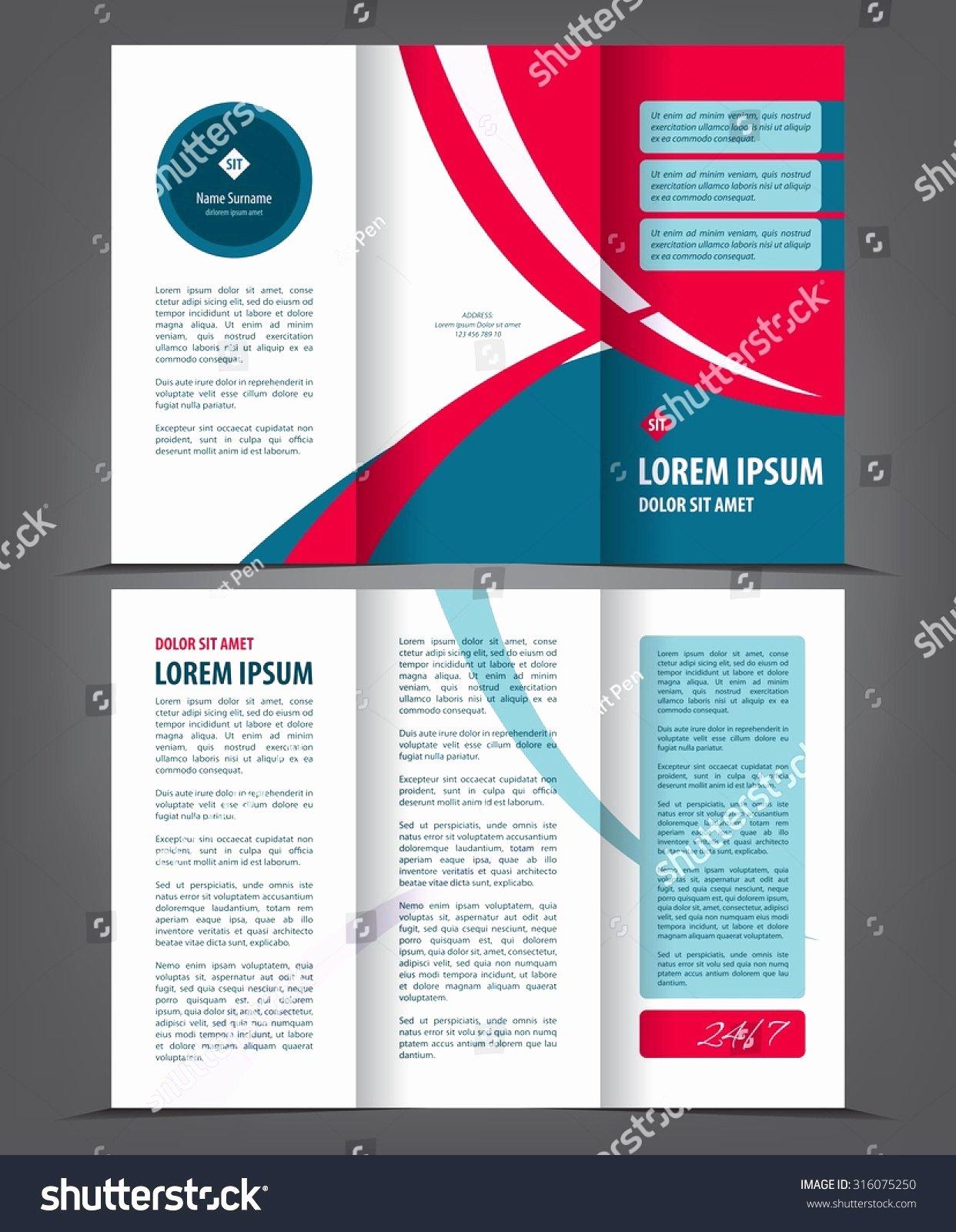 2 Fold Brochure Template Luxury 50 Best 2 Sided Tri Fold Brochure Template