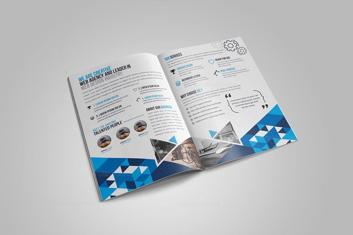 2 Fold Brochure Template Luxury Gem Corporate Bi Fold Brochure Template Template