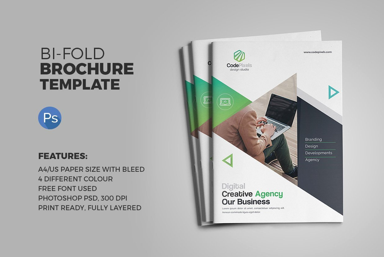 2 Fold Brochure Template Luxury the Bi Fold Brochure Brochure Templates Creative Market