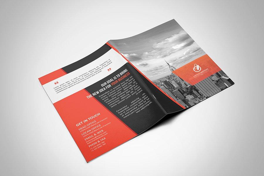 2 Fold Brochure Template New Bi Fold & Tri Fold Brochure Template On Behance