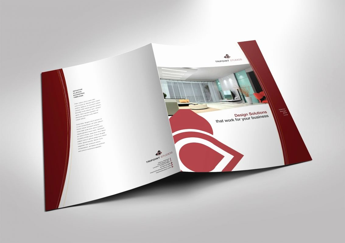 2 Fold Brochure Template New Half Fold Brochure Template for Design Pany Marketing