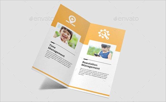 2 Fold Brochure Template New One Fold Brochure Template 19 Bi Fold Brochure Templates