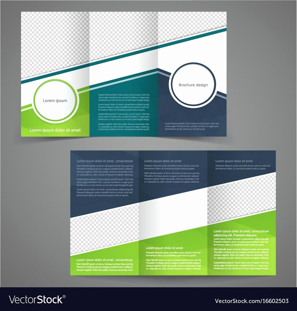 2 Folded Brochure Template Awesome 51 Unique 2 Sided Brochure Template