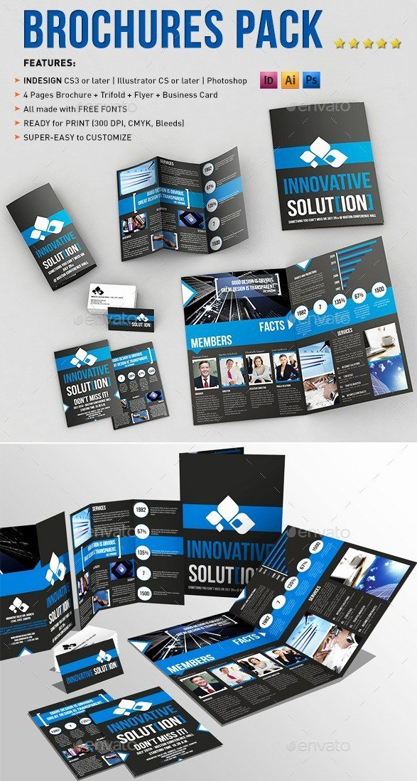 2 Folded Brochure Template Beautiful 65 Print Ready Brochure Templates Free Psd Indesign & Ai