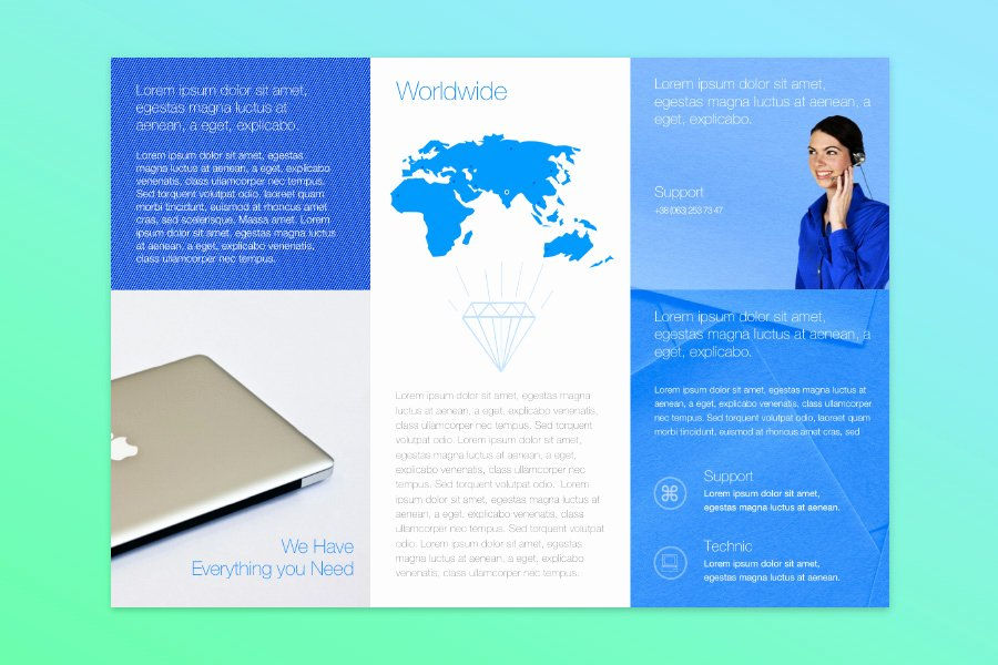 2 Folded Brochure Template Beautiful Free Publisher Templates for Mac