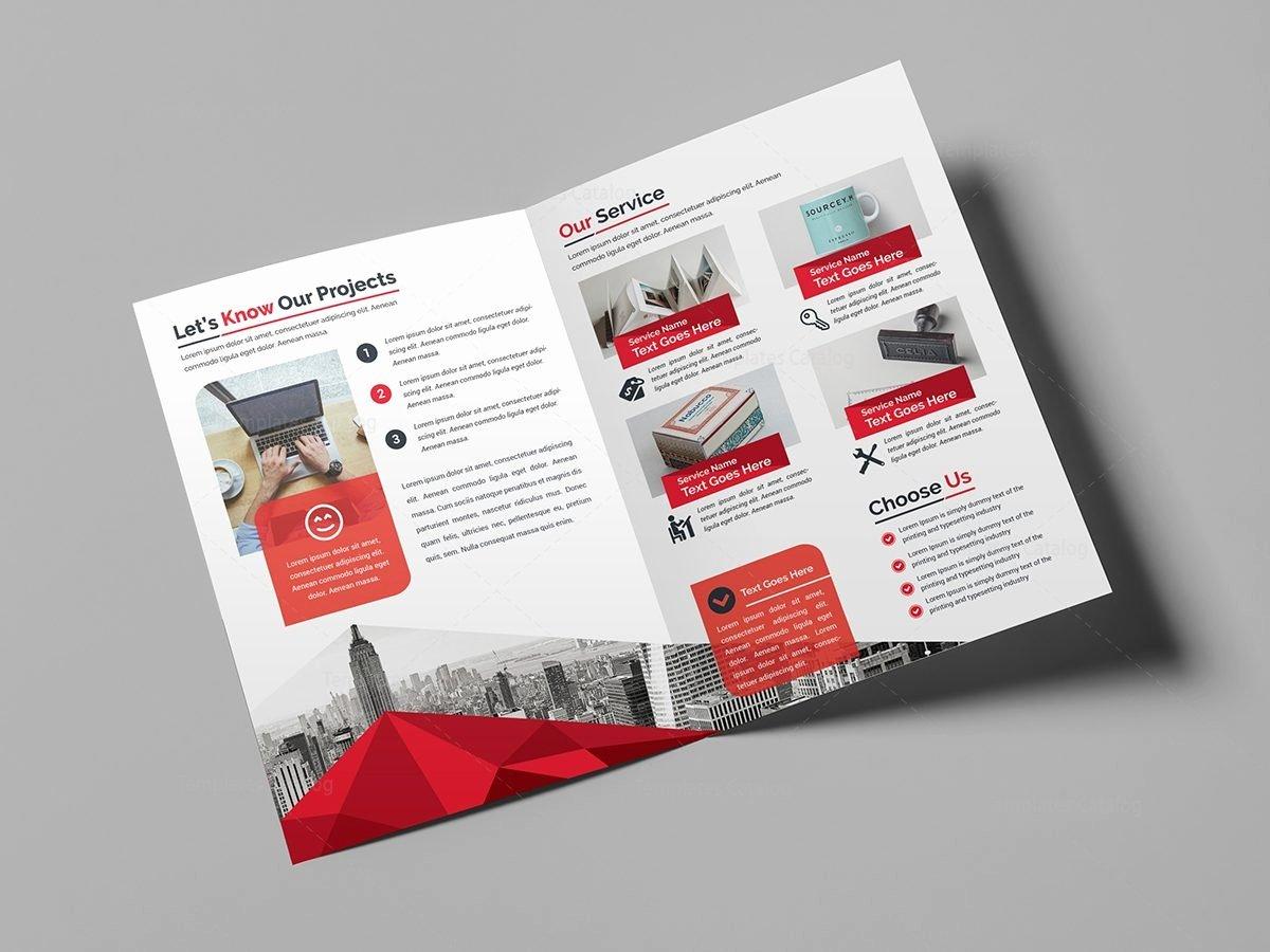 2 Folded Brochure Template Best Of Classy Bi Fold Brochure Template Template Catalog