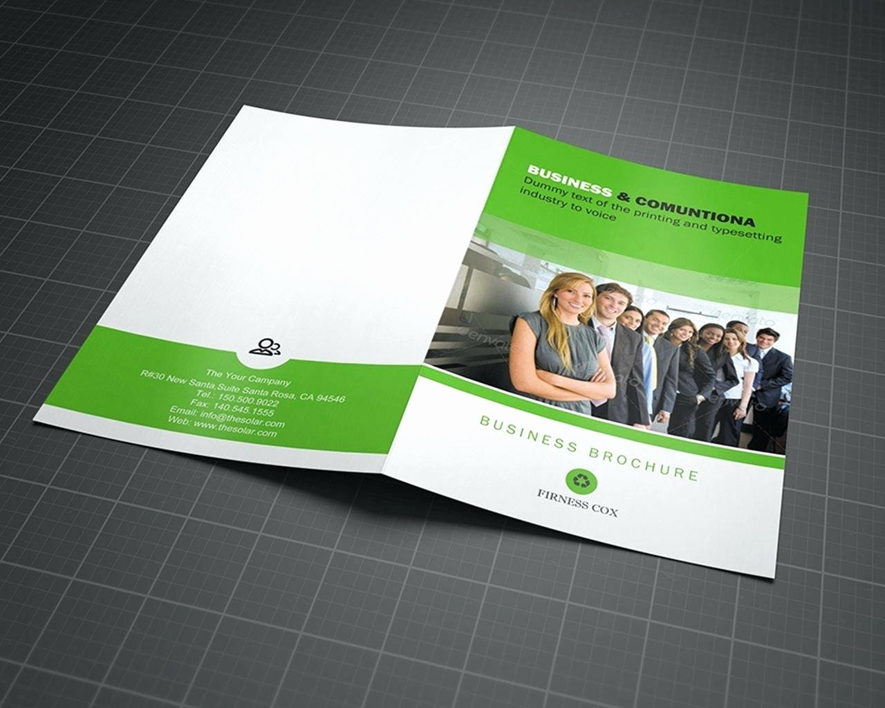 2 Folded Brochure Template Elegant Two Fold Brochure Template Psd