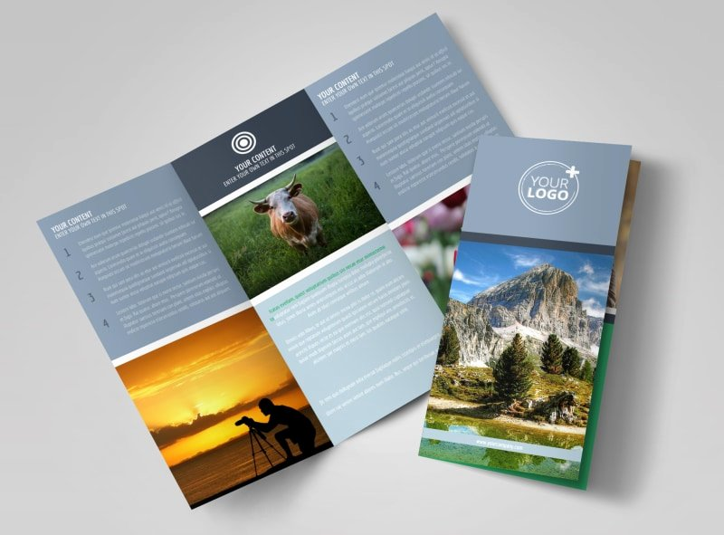 2 Folded Brochure Template Lovely General Graphy 2 Brochure Template