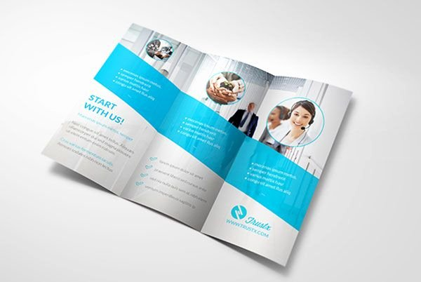 2 Folded Brochure Template Luxury Trustx Corporate Tri Fold Brochure Template 3 25 Really