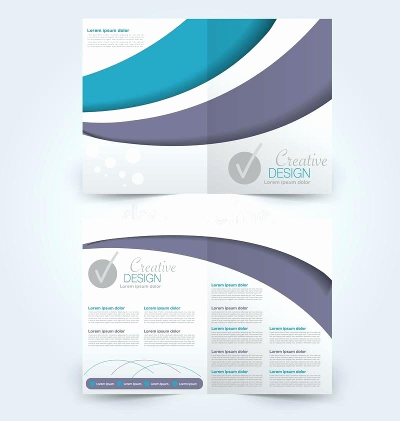 2 Folded Brochure Template Luxury Two Fold Brochure Template Free Abstract Flyer Design