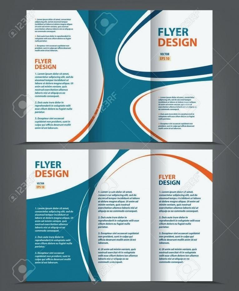 2 Folded Brochure Template New 2 Page Brochure Template Unique Brochure Template Tri Fold